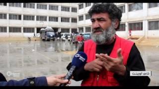 وصول الدفعة الثانية من أهالي خان الشيح المهجرين إلى إدلب