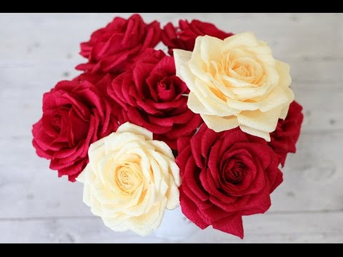 How To Make Realistic And Paper Roses Youtube
