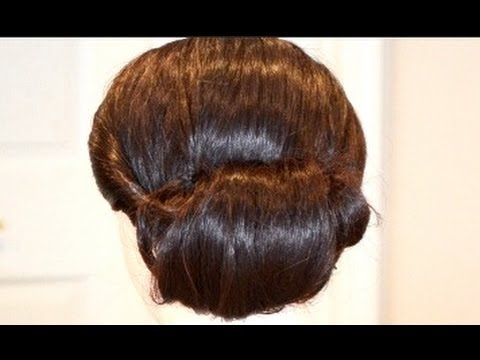 Classic Bridal Updo Hairstyle : Summer heatless hairstyle how to chignon hair tutorial classic