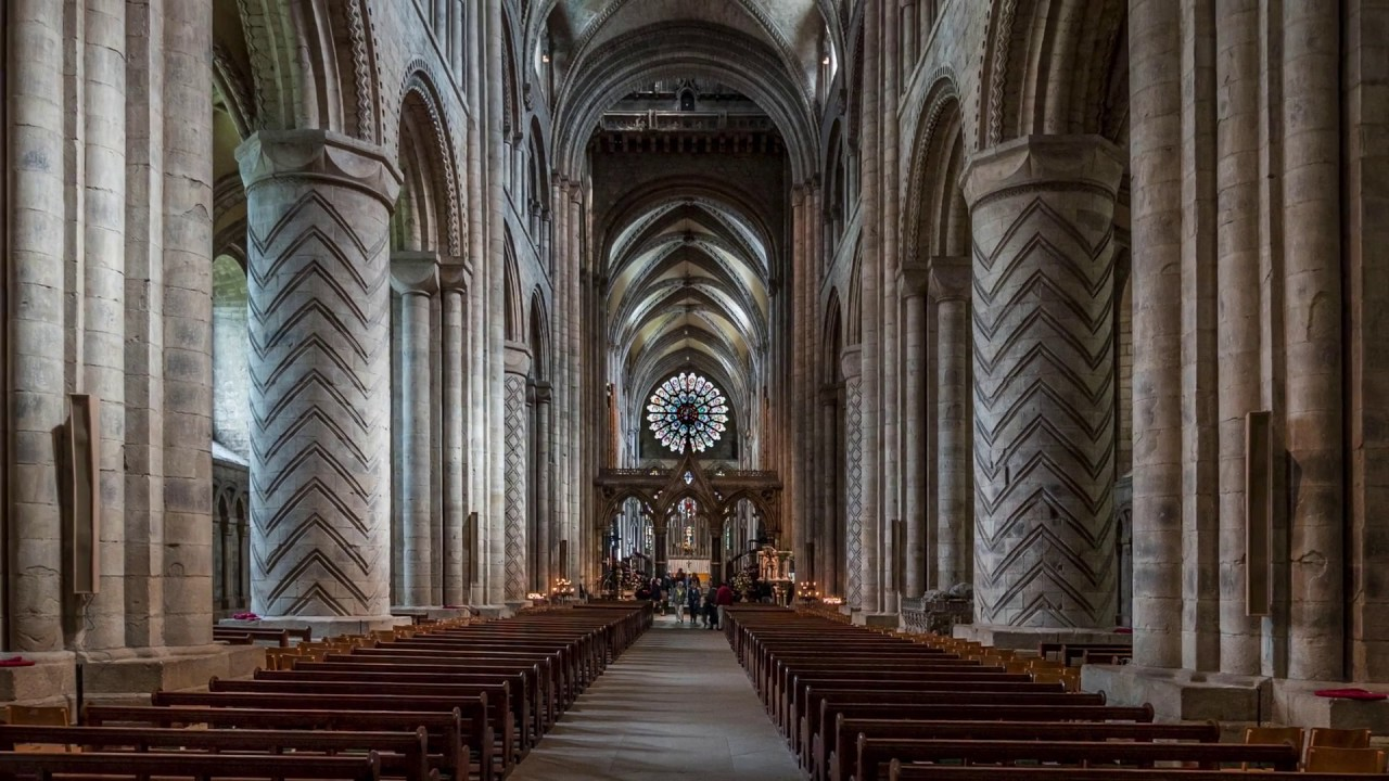 Durham cathedral youtube for Catedral de durham interior