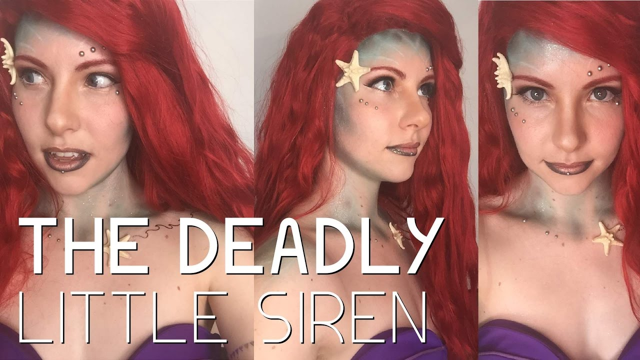 Ariel Halloween Makeup Tutorial - YouTube