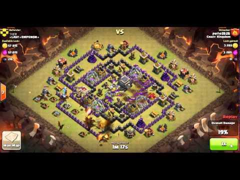 clash of clans : dragon raid on a th9 - 3 stars