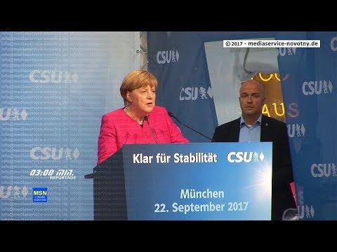 22.09.2017 Angela Merkel in München massiv ausgepfiffen