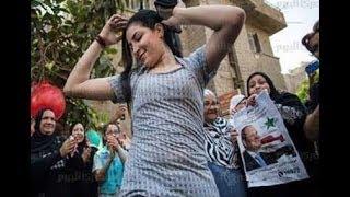 رقص المصريات في الانتخابات على اغنية بشرة خير