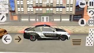 Video de carro de policia para niños en español, juegos de niños de autos policia