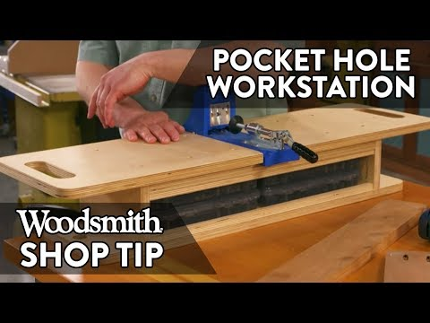 Woodworking Tip: Pocket-Hole Jig Workstation