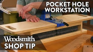 Woodworking Tip: Pocket Hole Work Station