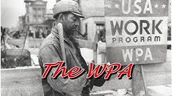 "History Brief: The <span id=""works-progress-administration"">works progress administration</span> (WPA) ' class='alignleft'>Works Progress Administration – Part 2 The WPA not only pulled the nations out of the Depression, but the records and indices they generated can pull family historians out of depression, too! Share</p> <p>Project of the Works Progress Administration, one of the many government sponsored projects created to provide employment during the Depression. The survey had two purposes: to list manuscripts, church records, and public records in</p> <p>Hood. The WPA also put actors, writers and other creative arts professionals back to work by sponsoring federally funded plays, art projects, such as murals on public buildings, and literary.</p> <p>Works Progress Administration (WPA) projects Historical Markers. DC's Art Deco/Art Moderne Recorder of Deeds Building (1941) houses city land records.</p> <p><a href="
