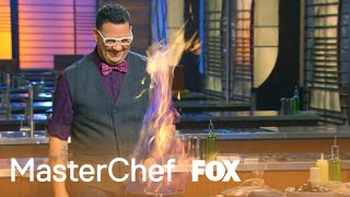 The Judges Demonstrate How To Flambe | Season 6 Ep. 13 | MASTERCHEF