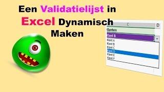 Een Validatielijst in Excel Dynamisch Maken