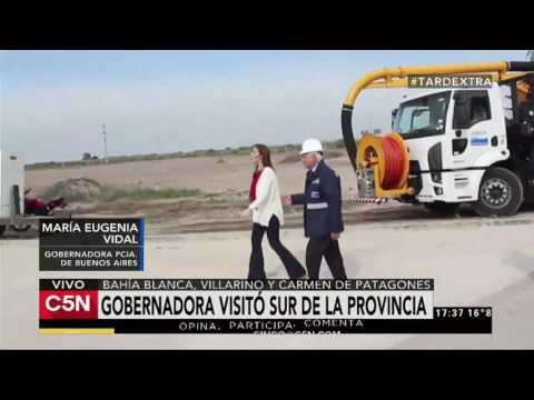 C5N - Politica: Vidal recorrió Bahía Blanda, Villarino y Patagones