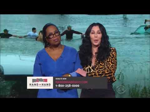 Oprah Winfrey and Cher speak for Hand In Hand Hurricanes Harvey and Irma relief funds.