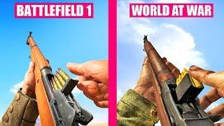 BATTLEFIELD 1 Gun sounds vs Call of Duty World At War