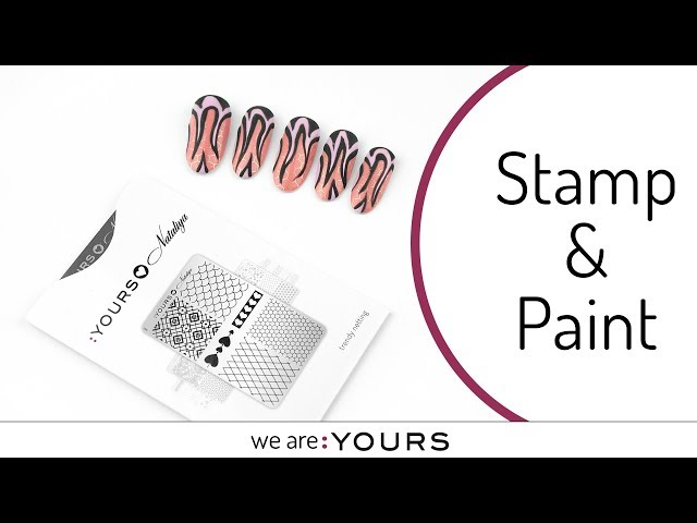 Stamp and paint