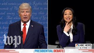 SNL vs. reality: Trump and Biden's final debate