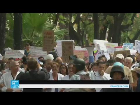 مظاهرات للأطباء والممرضين احتجاجا على الأزمة الصحية في فنزويلا  - 18:22-2017 / 5 / 18