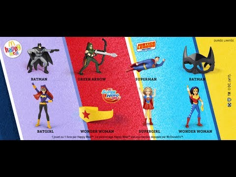 Full Virtual Set of 2017 FRANCE DC Comics Superhero Girls and Justice League Mcdonalds Happy Meal