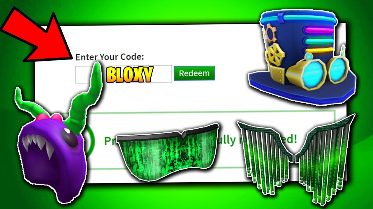 March Roblox Promo Codes Free Roblox Bloxy Event Items Roblox