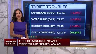 Markets open lower following announcement of China's retaliatory tariffs