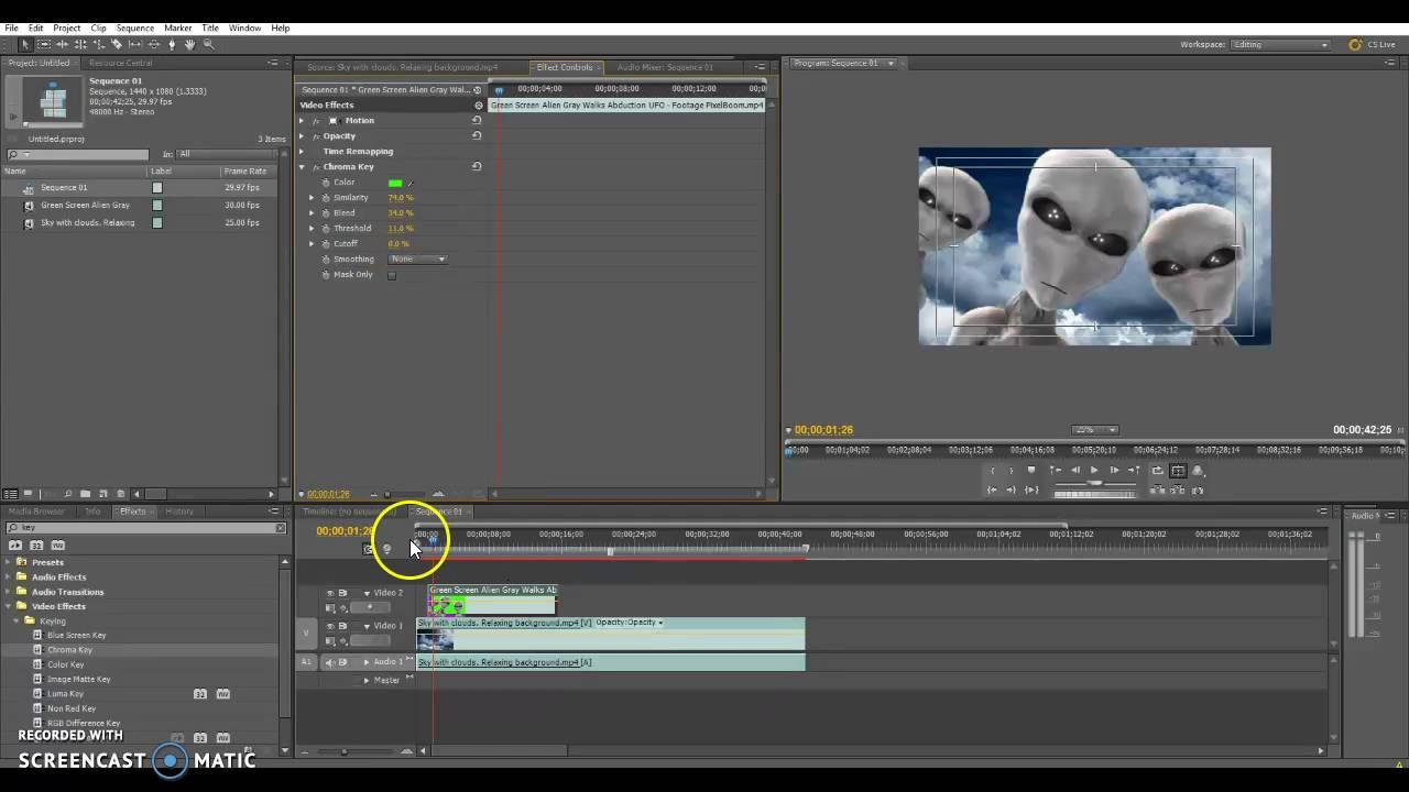 adobe premiere pro cs5 chroma key
