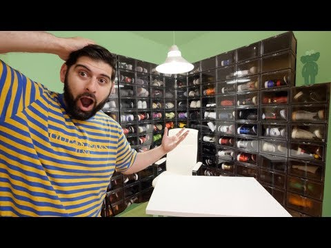 MY NEW $100,000 SNEAKER COLLECTION ROOM!!