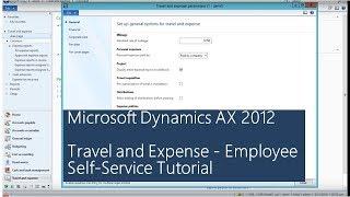 Microsoft Dynamics AX 2012 - السفر والنفقات - الخدمة الذاتية للموظف التعليمي