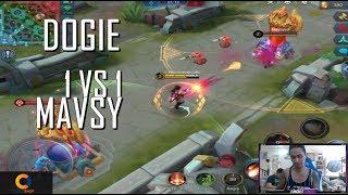 DOGIE VS MAVSYYY - 1 VS 1 - MOBILE LEGENDS - GAMEPLAY - KIMMY vs LESLEY