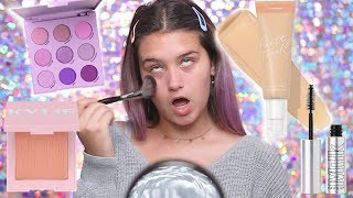 STEALING MY AUNTS MAKEUP AND DOING A TUTORIAL