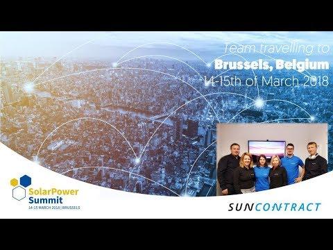 SunContract at SolarPower Summit in Brussels, Belgium