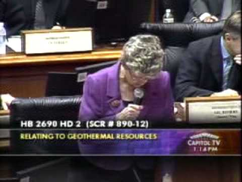 Rep Thielen Addresses  HB 2690 - Geothermal Resources; Exploration