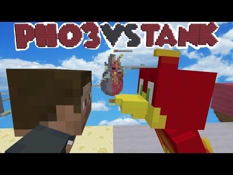 PHO3N1X Vs TANK MATT BIRTHDAY !!  Minecraft Xbox SKYWARS MAP