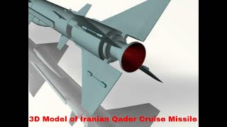 3D Model of Iranian Qader Cruise Missile