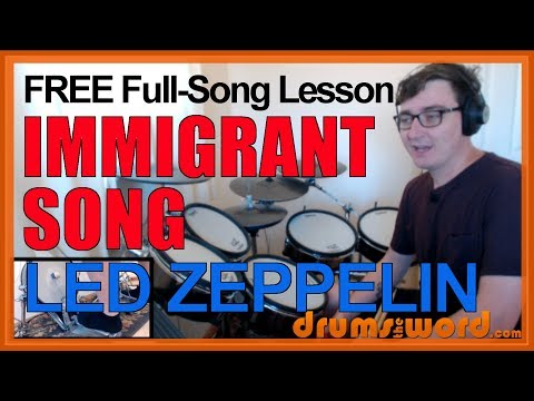★ Immigrant Song (Led Zeppelin) ★ FREE Full-Song Video Drum Lesson | How To Play Song (John Bonham)