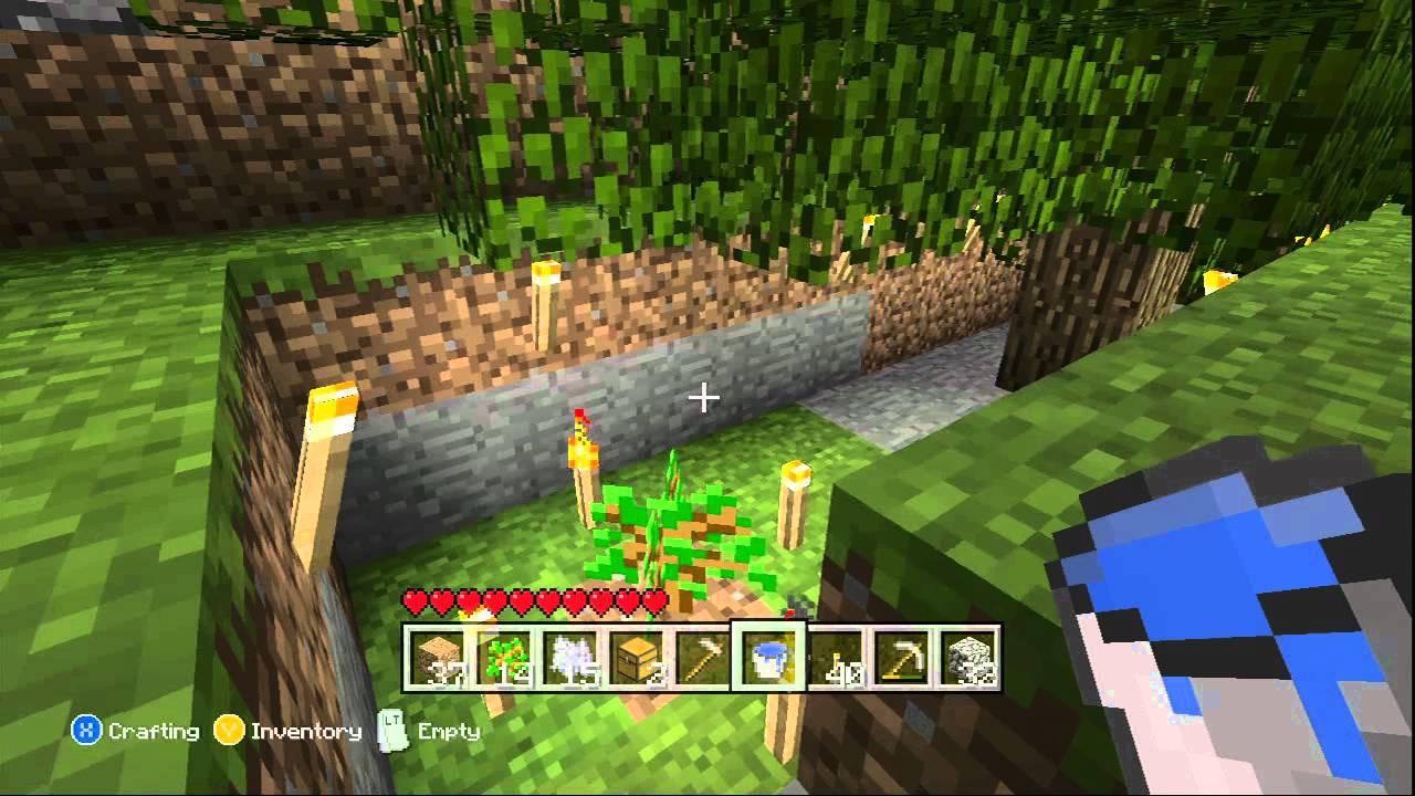 Minecraft Xbox 9 How to grow Tree Underground SashimiX Sashimi X