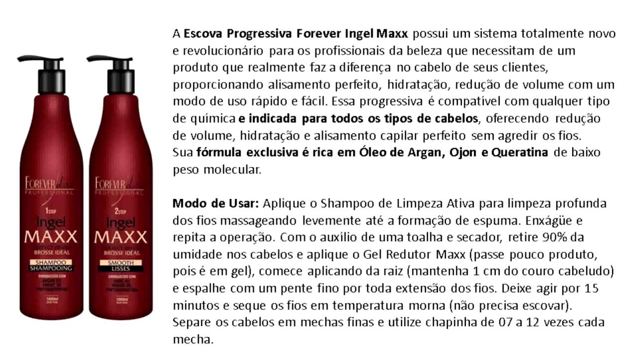 00e78b687 Forever Liss Escova Progressiva Ingel Maxx Escova progressiva em gel ...