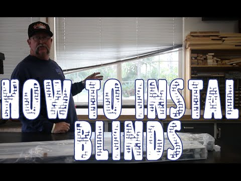 How to install Mini Blinds & Unboxing Springs Window Fashion Blinds