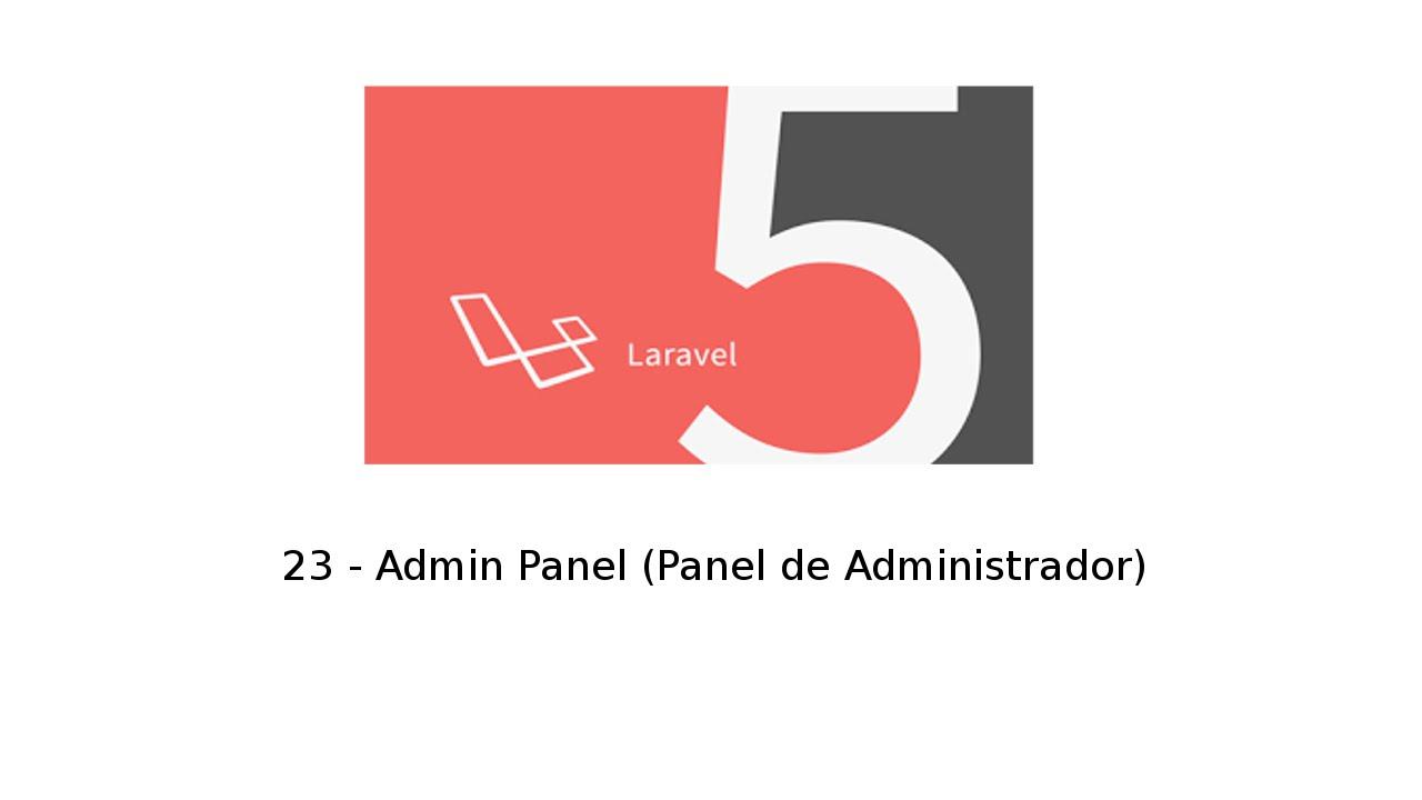 Admin Panel laravel 5 tutorial