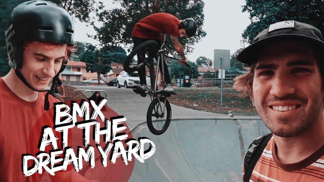 RIDING BMX AT THE DREAM BACKYARD SKATEPARK
