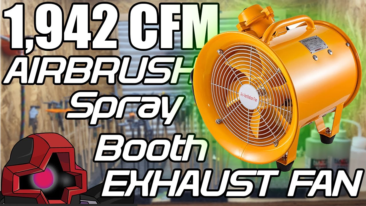 the best airbrush spray booth exhaust fan for lacquer or any paint for gunpla miniatures or models