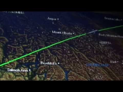 Vancouver-to-Edmonton night flight: Coastal downpour to prairie snowfield 2014-01-10