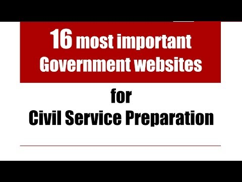 16 most important Government websites for Civil Service Preparation