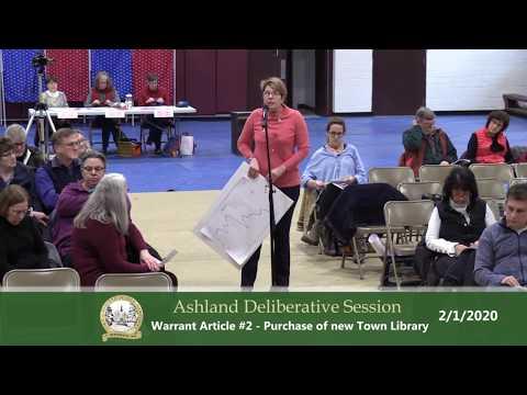 Ashland Deliberative Session 2/1/20