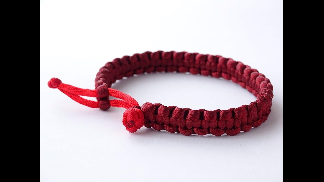 Simple Macrame Bracelet Tutorial Cobra Weave Decorative