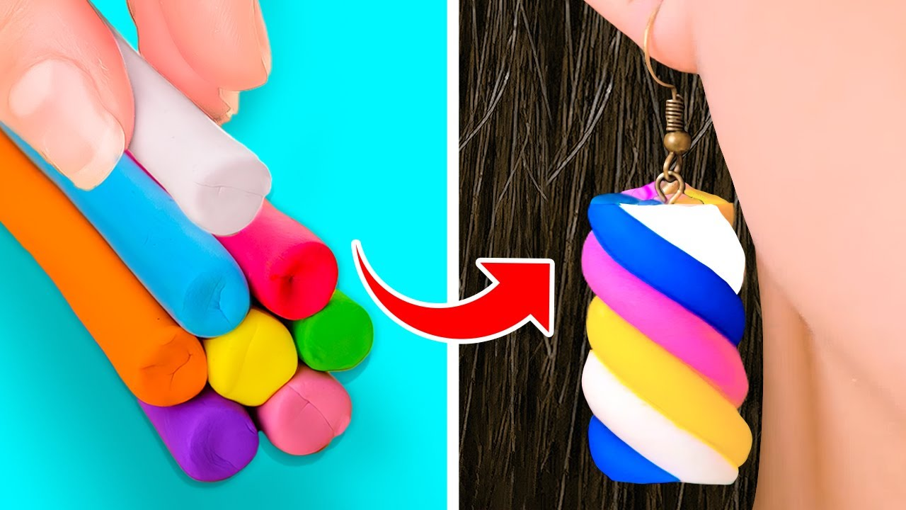 Colorful Polymer Clay DIYs For Stylish Look || DIY Jewelry, Cute Mini Crafts And Cheap Accessories