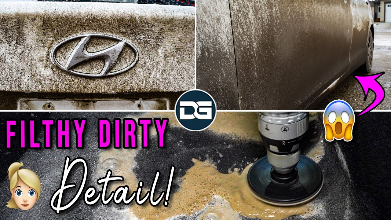 Deep Cleaning a Girl's DIRTY Car! | Muddy Pressure Washing and Detailing Transformation!