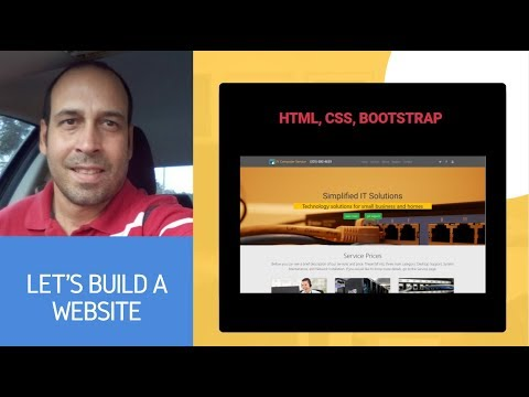 Let's Build A Responsive Website For Small IT Company - HTML, CSS, Bootstrap