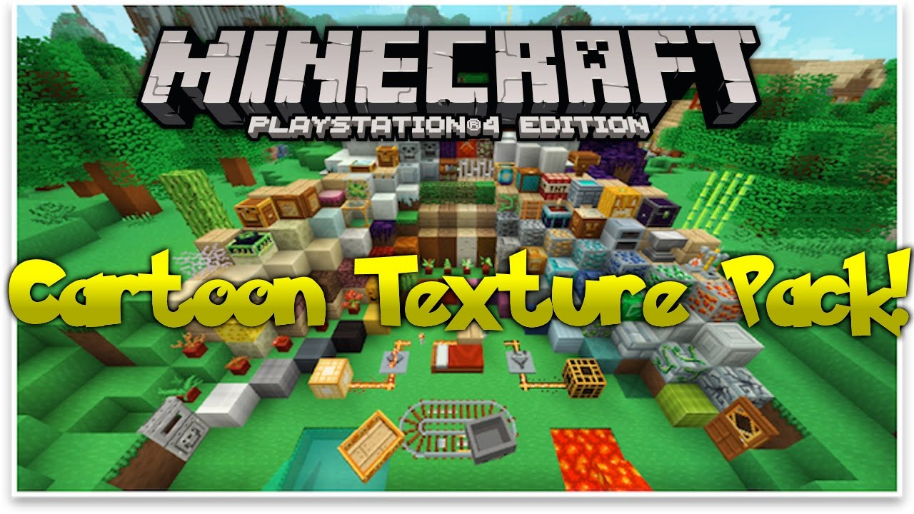 minecraft ps4 cartoon texture pack review ps4. Black Bedroom Furniture Sets. Home Design Ideas