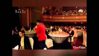 JYP and Lee Minho Moment @ Paeksang Art Awards 2015