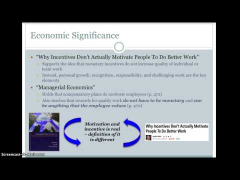 Economic Report - Employee Motivation and Incentive