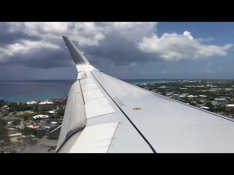 Beautiful Visual Approach - Bumpy American Airlines A319-100 Landing in Grand Cayman